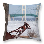 Iron Buoy And Mighty Mac Throw Pillow