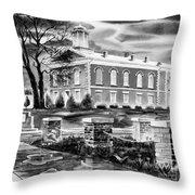 Iron County Courthouse IIi - Bw Throw Pillow