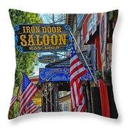 Iron Door Saloon - The Oldest Saloon In California Throw Pillow