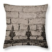 Iron Fence - New Orleans Throw Pillow