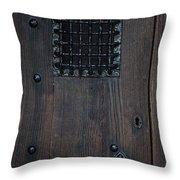 Iron Gate Window Throw Pillow