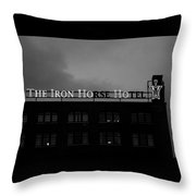 Iron Ho-ho  Black And White Throw Pillow