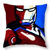 Iron Man 2 Throw Pillow by Barbara McMahon