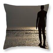 Iron Man Waiting For Sunset 1 Throw Pillow