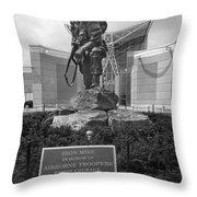 Iron Mike - Black And White Throw Pillow
