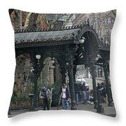 Iron Pergola Pioneer Square Throw Pillow