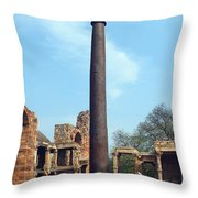Iron Pillar Of Qutb Throw Pillow