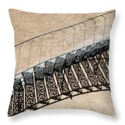 Iron Stairs Shadow Throw Pillow