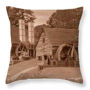 Iron Works Sepia Two Throw Pillow