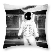 The Astronaut Homecoming Throw Pillow