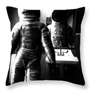 The Astronaut And The Bathroom Throw Pillow