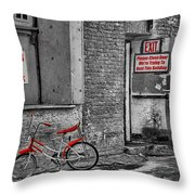 Irony In The Alley Throw Pillow
