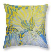 Irreverant Iris Throw Pillow