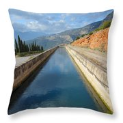 Irrigation Canal Throw Pillow