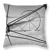 Irrigation Pipe In Winter Throw Pillow