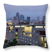 Irs Complex In Downtown Kansas City Mo Throw Pillow