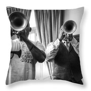 Irvin And Wynton Throw Pillow