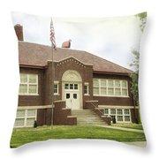 Irvington School Throw Pillow