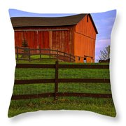 Is Every Barn Red Throw Pillow