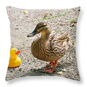 Is Everything Ducky? Throw Pillow