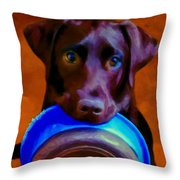 Is It Time Yet? Throw Pillow
