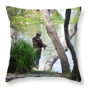 Is The Fisherman Real? Throw Pillow