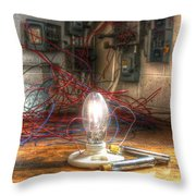 Is This Right Mr. Edison? Throw Pillow