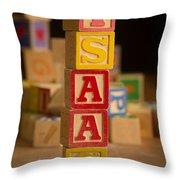 Isaac - Alphabet Blocks Throw Pillow