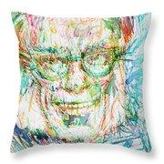 Isaac Asimov Portrait Throw Pillow