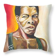 Isaac De Bankole Throw Pillow
