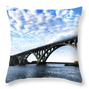 Isaac Lee Patterson Bridge Throw Pillow