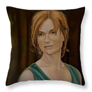 Isabelle Huppert Painting Throw Pillow