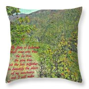 Isaiah 60 13 Throw Pillow