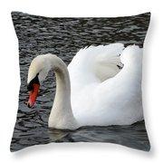 Isar Swan Throw Pillow