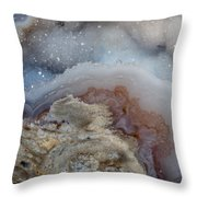 Iside A Geode Throw Pillow