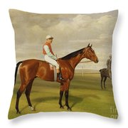 Isinglass Winner Of The 1893 Derby Throw Pillow by Emil Adam