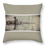 Isis And Moon Symbol Athame Throw Pillow