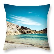Isla Del Sol On The Titicaca Lake Throw Pillow