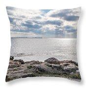 Isla Plana Throw Pillow