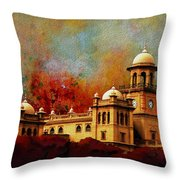 Islamia College Lahore Throw Pillow by Catf