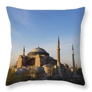 Islamic Mosque At Sunset Istanbul Throw Pillow by Mark Thomas
