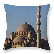 Islamic Mosque Istanbul, Turkey Throw Pillow by Mark Thomas