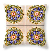 Islamic Tiles 03 Throw Pillow