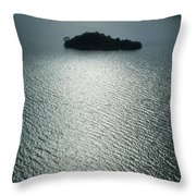 Lugu Lake Island And Ripples China Throw Pillow
