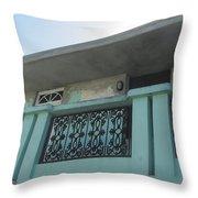 Island Balcony Close Up Throw Pillow