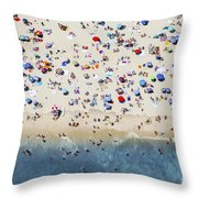 Island Beach State Park Throw Pillow