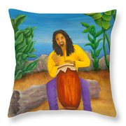 Island Beat Throw Pillow