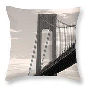 Island Bridge Bw Throw Pillow