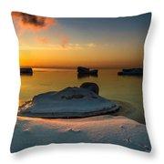 Island Burgs Throw Pillow