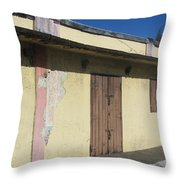Island Decay Building Throw Pillow